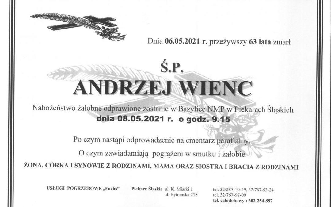Zmarł Andrzej Wienc